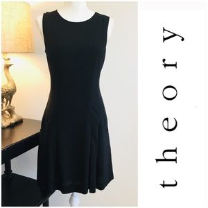 Theory Virgin Wool blend black dress